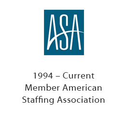 1994 - Current Member American Staffing Association