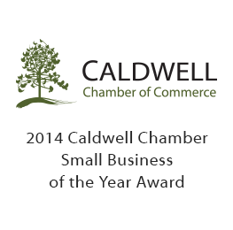 2014 Caldwell Chamber Small Business of the Year Award